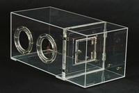 Glove box clear acrylic single door, (gloves to be ordered separately)