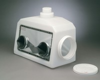 Glove box portable acrylic 686mm (w) x 330mm (d) x 559mm (h)